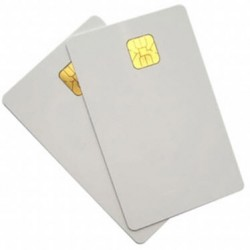 200 Smart Card bianche in PVC MicroChip SLE 5542