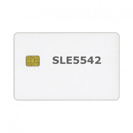 200 Smart Card bianche in PVC MicroChip SLE 5542