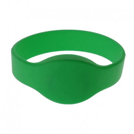 10 Braccialetti RFID Contactless ReadOnly 125KHz (65mm) Verde